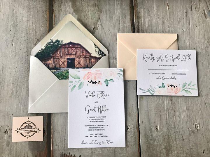 Tmx Lady Bird 51 185485 Concord, North Carolina wedding invitation