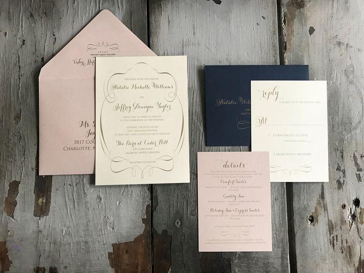Tmx Williams 51 185485 Concord, North Carolina wedding invitation
