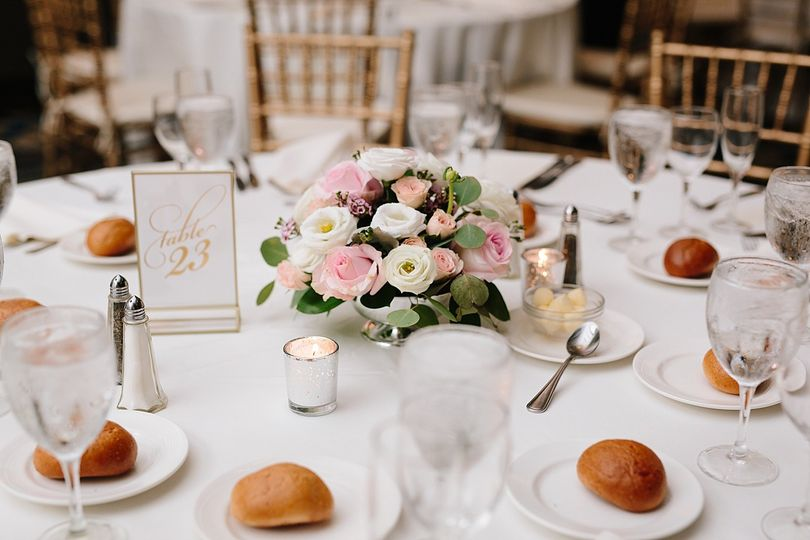 Romantic white and pink flowers