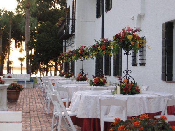 Bridesmaids luncheon on the crane garden terrace