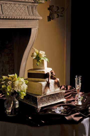 Wedding cake by the hotel's pastry shop