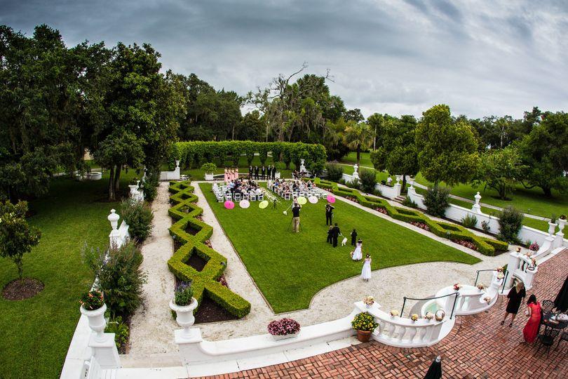 Ceremony in crane garden