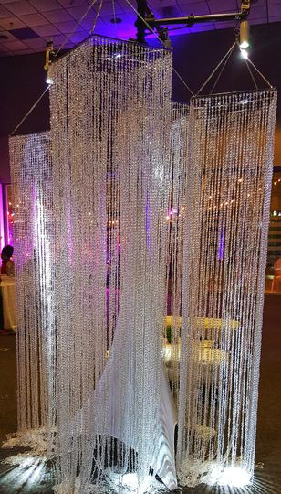 Crystal column chandelier $430
