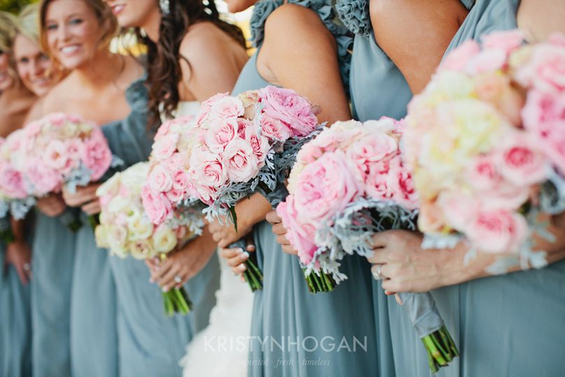 roiann ridley floral design pink wedding bridesmai