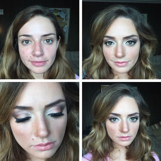 Classic smokey eye makeup