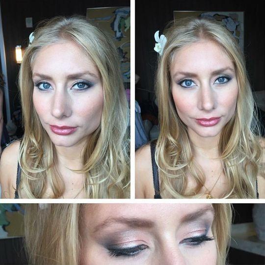 Eyeshadow and contouring
