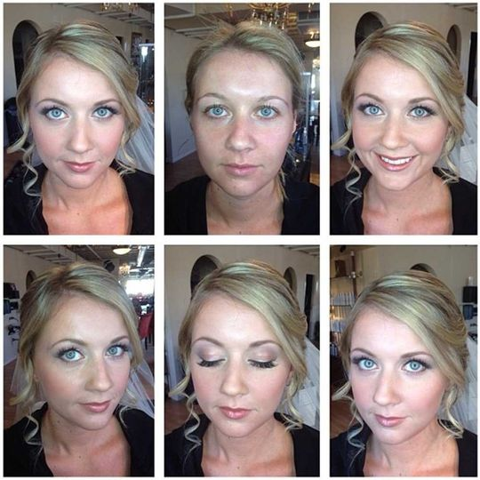 Natural bridal makeup