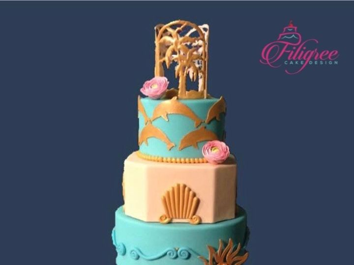 Tmx Beach Theme Turquoise And Ivory Wedding Cake 51 1969485 159020392550312 Ponte Vedra Beach, FL wedding cake