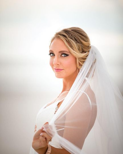 Love the makeup on this bride