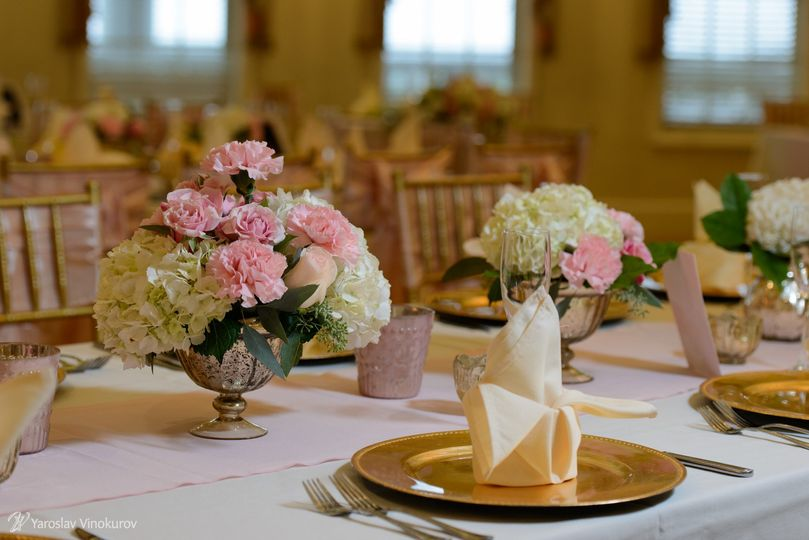 Pink and white decors