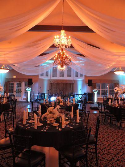 stone oak ball room with drape