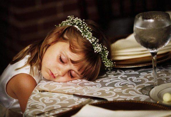 sleeping flower girl