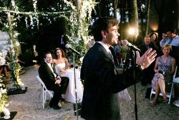 george stephanopoulos gives speech at wedding