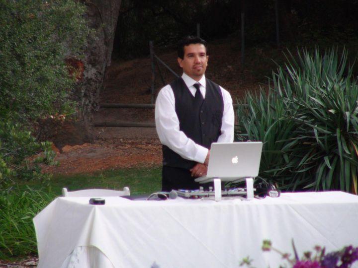 DJ Rey at the reception