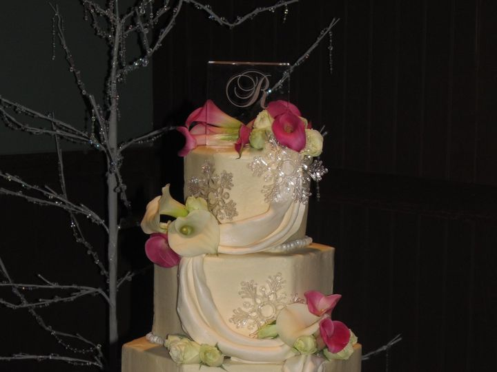 Tmx 1403786719594 Snoflake Greensboro wedding cake