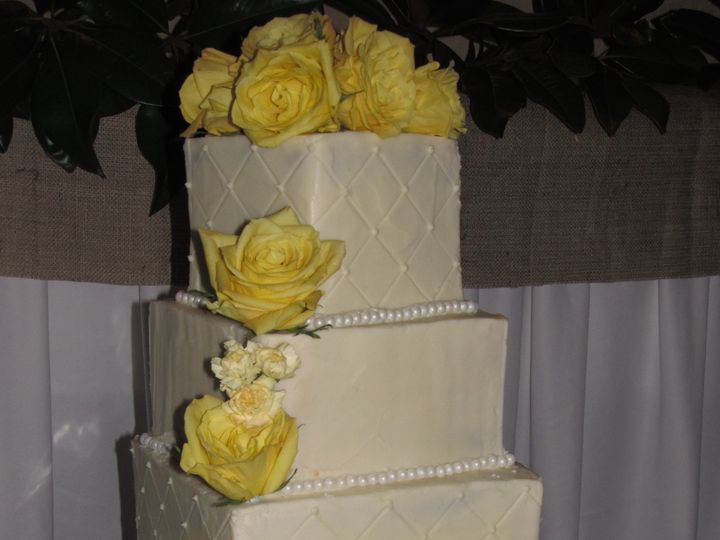 Tmx 1403786812628 Yellow Roses Greensboro wedding cake