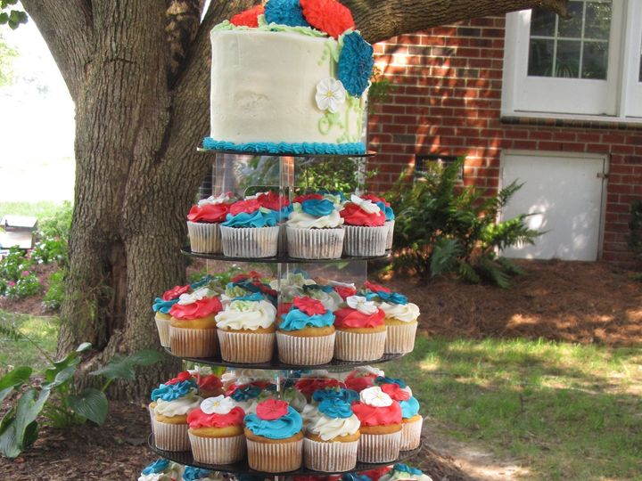 Tmx 1403787400542 Cupcake Tower 2 Greensboro wedding cake