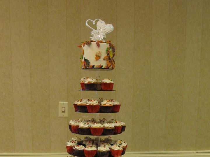 Tmx 1403787433435 Fall Cupcake Greensboro wedding cake