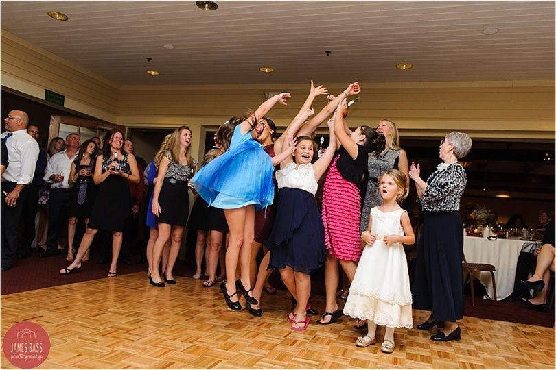 Having fun on the dance floor