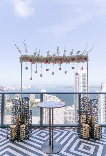 Civil ceremony arch by Zaira L