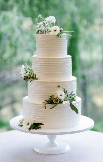 Ranunculus on cake