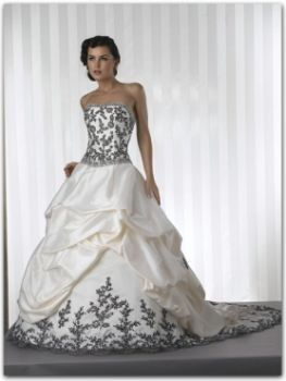 Ball gown with patterns