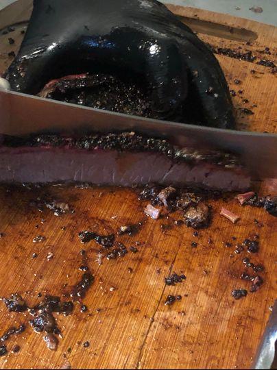 Sliced brisket served to order
