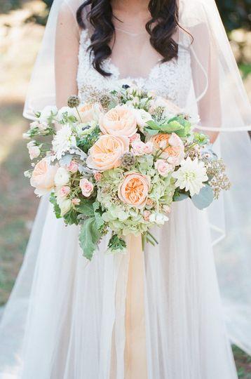 Wildflower and geranium bouquet