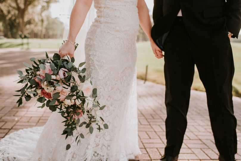 Mixed Pinks and Ivory Bouquet