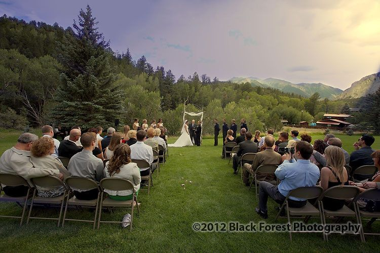 Wedding ceremony at Mt. Princeton Hot Springs
