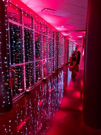 Uplighting with string lights