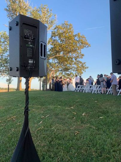 An outside ceremony