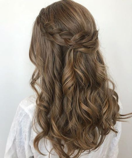 Half-up with French braid
