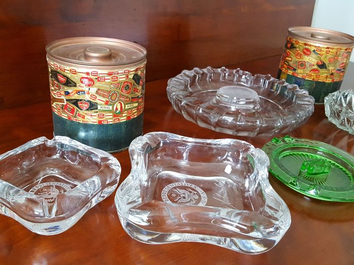 Ashtrays can be used for cigar lounge area