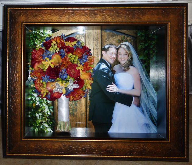 shadow box with photo background