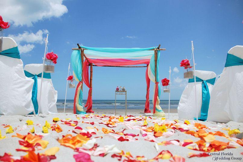 central florida wedding group orlando cocoa beach tropical setup1