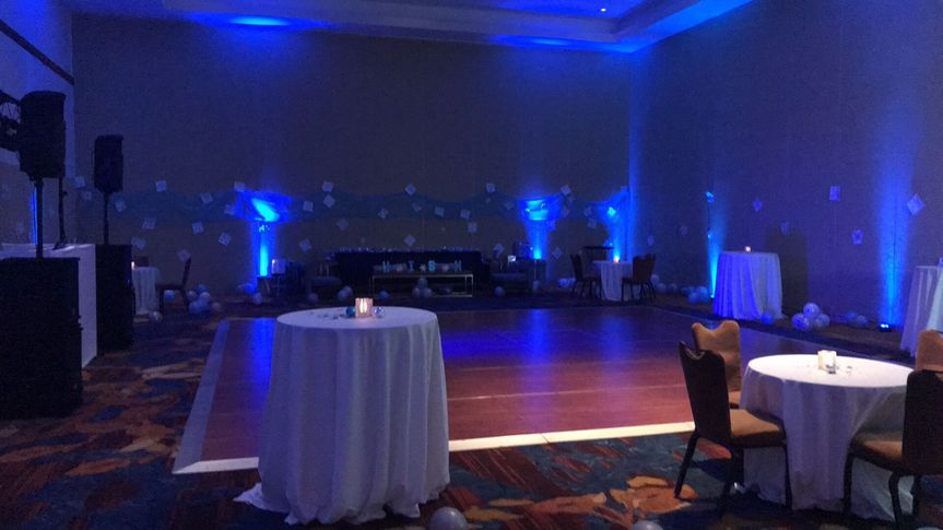 Enchanted winter theme at the JW Marriott.