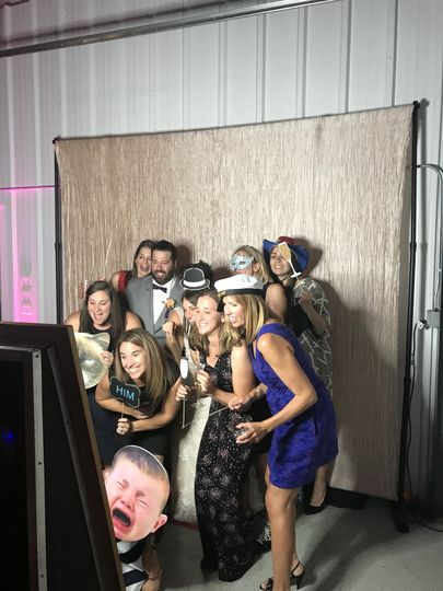 Guests enjoying our MagicMirror FotoBooth!