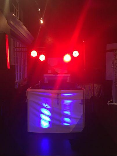 Pro DJ Booth w/ Light Truss