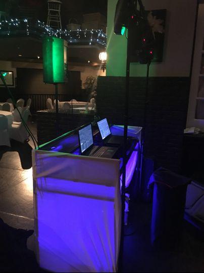 Light up DJ Booth