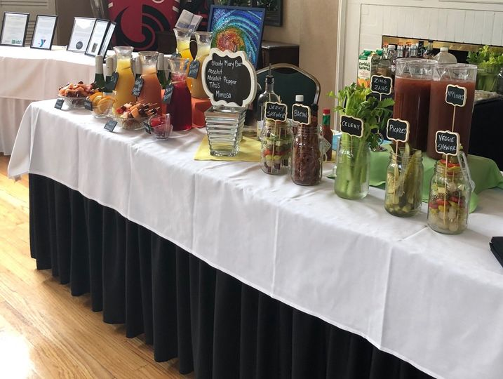 Bloody mary & mimosa bar