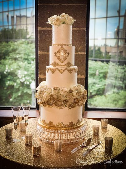 Pearlized Buttercream and Gold