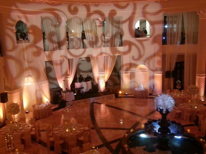 Stock Gobo projection at The Colonnade Hotel