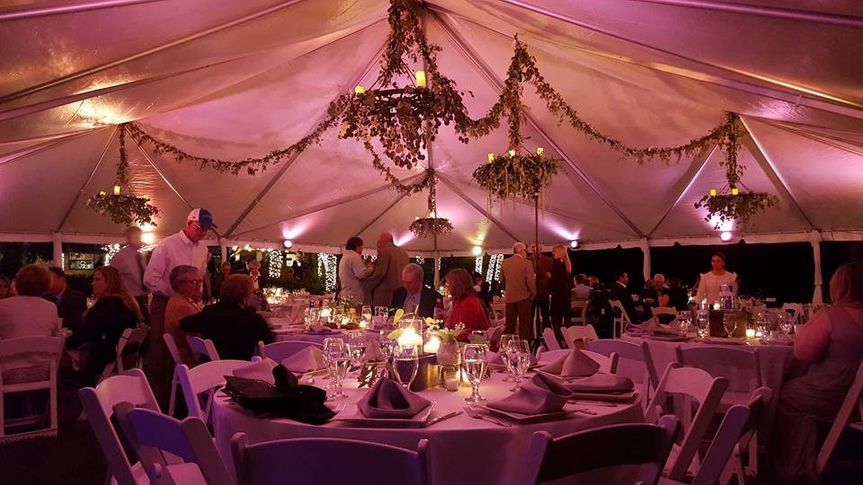 Blush Pink Tent illumination
