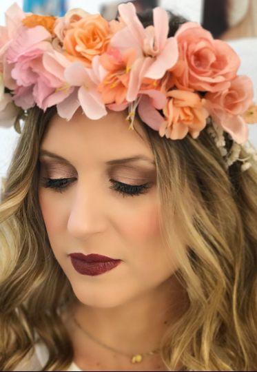 Dark colored makeup
