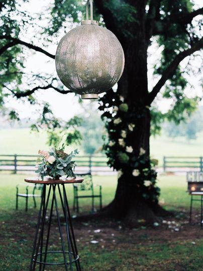 CCOLLECTIF's Zagora Lantern creating a beautiful focal point during cocktail hour