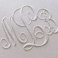 Embossed letters