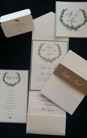 Nature themed invites