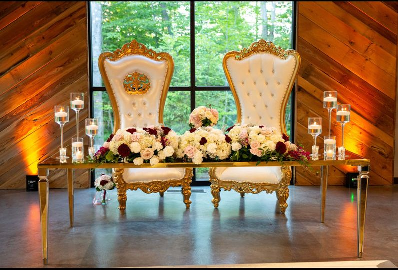 Decor for sweetheart table