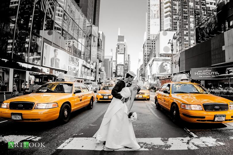 Time square wedding